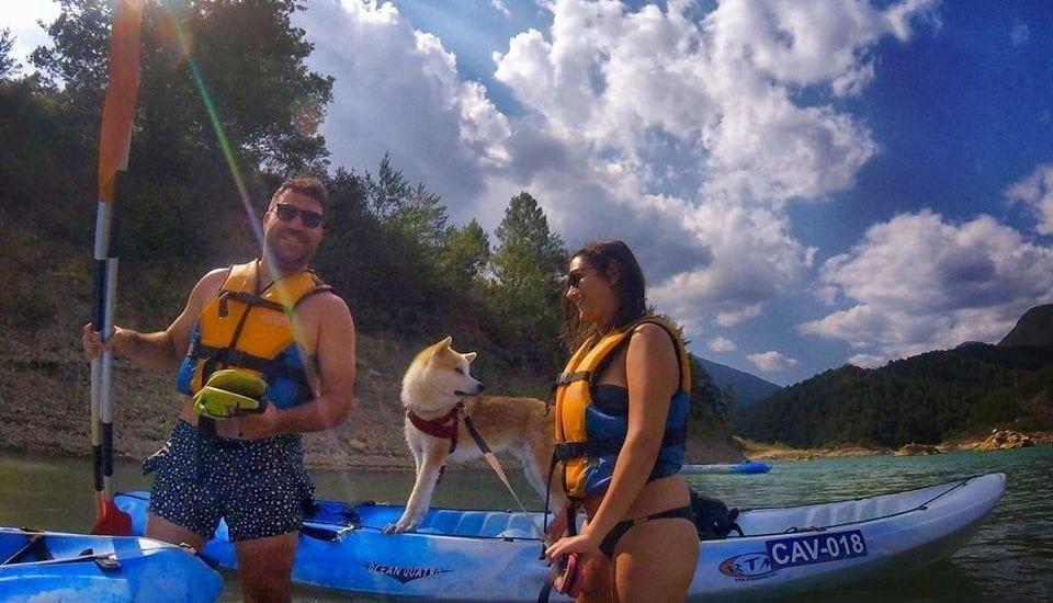 Cani-kayak en pareja con tu perro