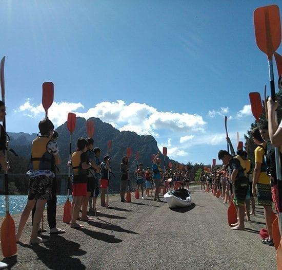 Curso de iniciación al kayak para escolares