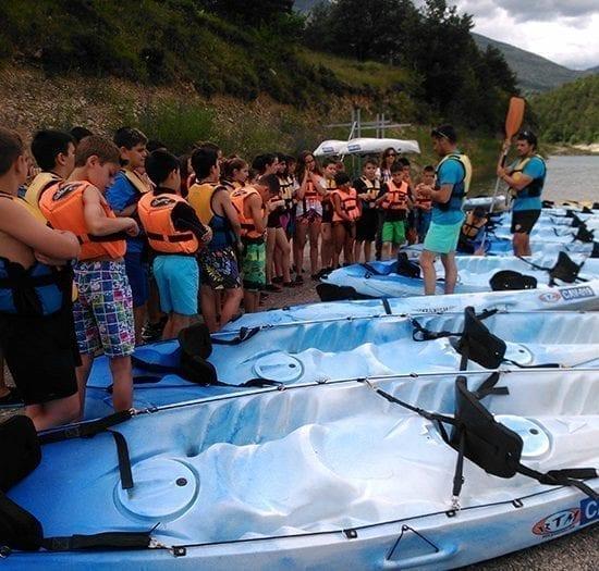 Iniciación al Kayak para Colonias de verano