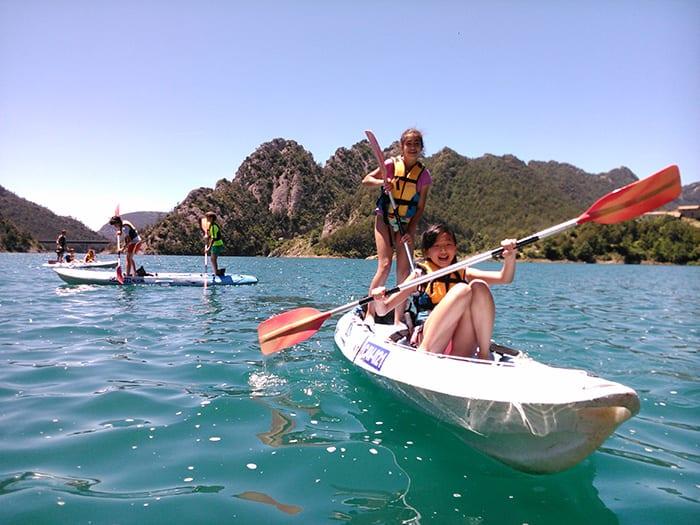 Escolares en Kayak en La Llosa del Cavall