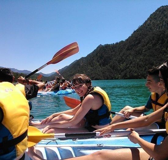 Rutas en Kayaks para colegiales