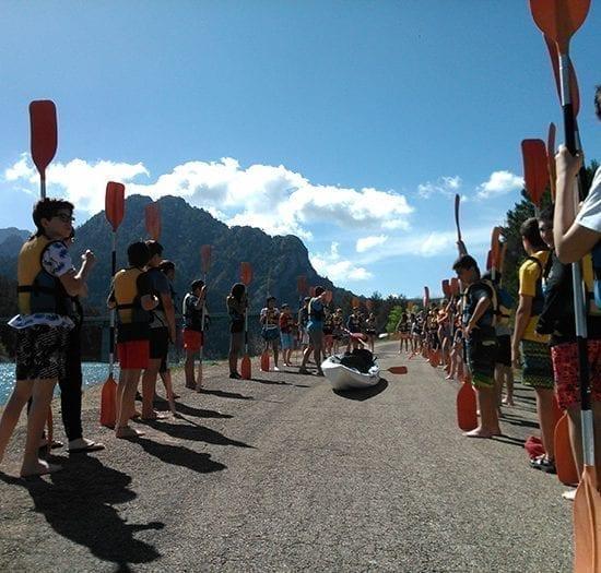 Kayak para niños de bachiderato