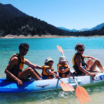 Kayak con niños pequeños