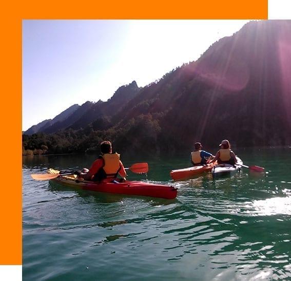 Rutas en kayak con guía