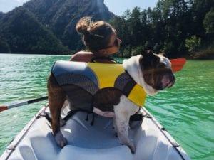 Tipo de kayak para navegar con mi perro