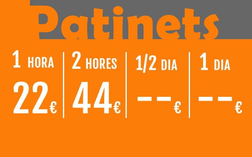 Precios Patinetes Catalán