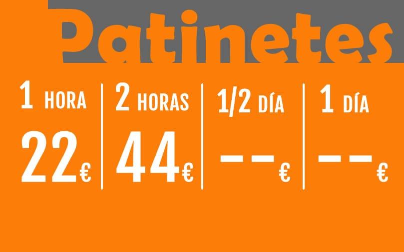 Precios Patinetes Español